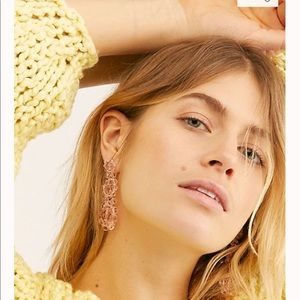 Free people glisted beaded earring